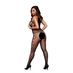 Baci - Open Side Sleeveless Bodystocking One Size