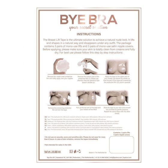 Bye Bra A-C - neviditelná náplast na zvednutí prsou - růžová (3 páry)