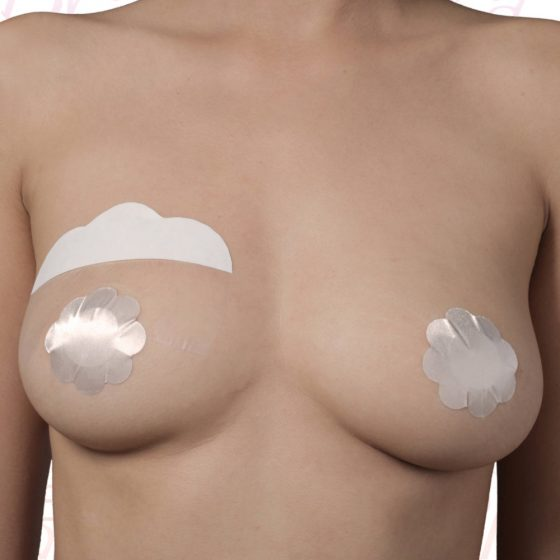 Bye Bra - Breast Lift & Silk Nipple Covers F-H Nude 3 Pairs