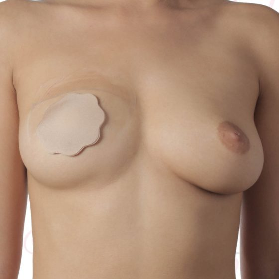 Bye Bra - Breast Lift & Silicone Nipple Covers F-H Nude 3 Pairs