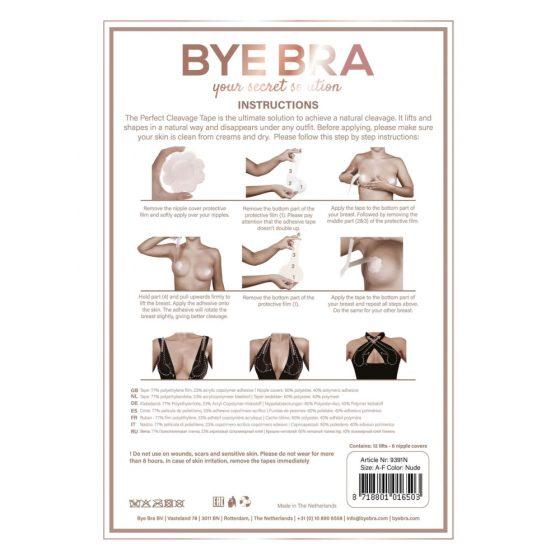 Bye Bra Perfect A-F - neviditelná náplast na zvednutí prsou - nude (6 párů)