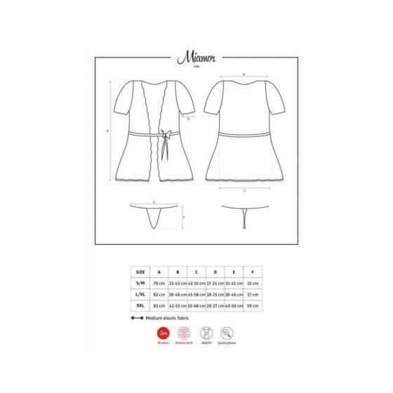 Obsessive - Miamor Robe & Thong Black