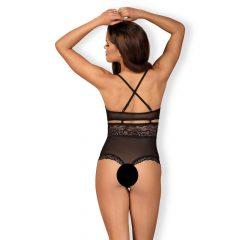 OBSESSIVE - 838-TED-1 TEDDY OPEN CROTCH BLACK