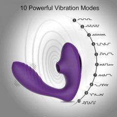 Tracys Dog - vodotěsný vibrátor na bod G a stimulátor klitorisu (fialový)