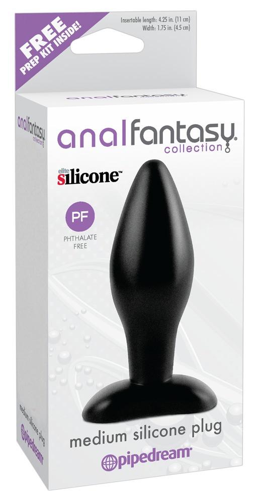 analfantasy Medium plug - silicone anale dildo - medium (black)