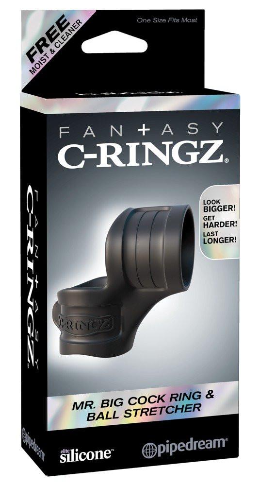 Fantasy Mr. Big - Penis Ring and Spherical Ring (Black)