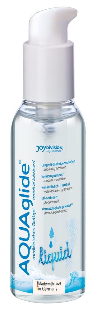 AQUAglide Liquid - Long-lasting, gentle water-based lubricant (125ml)