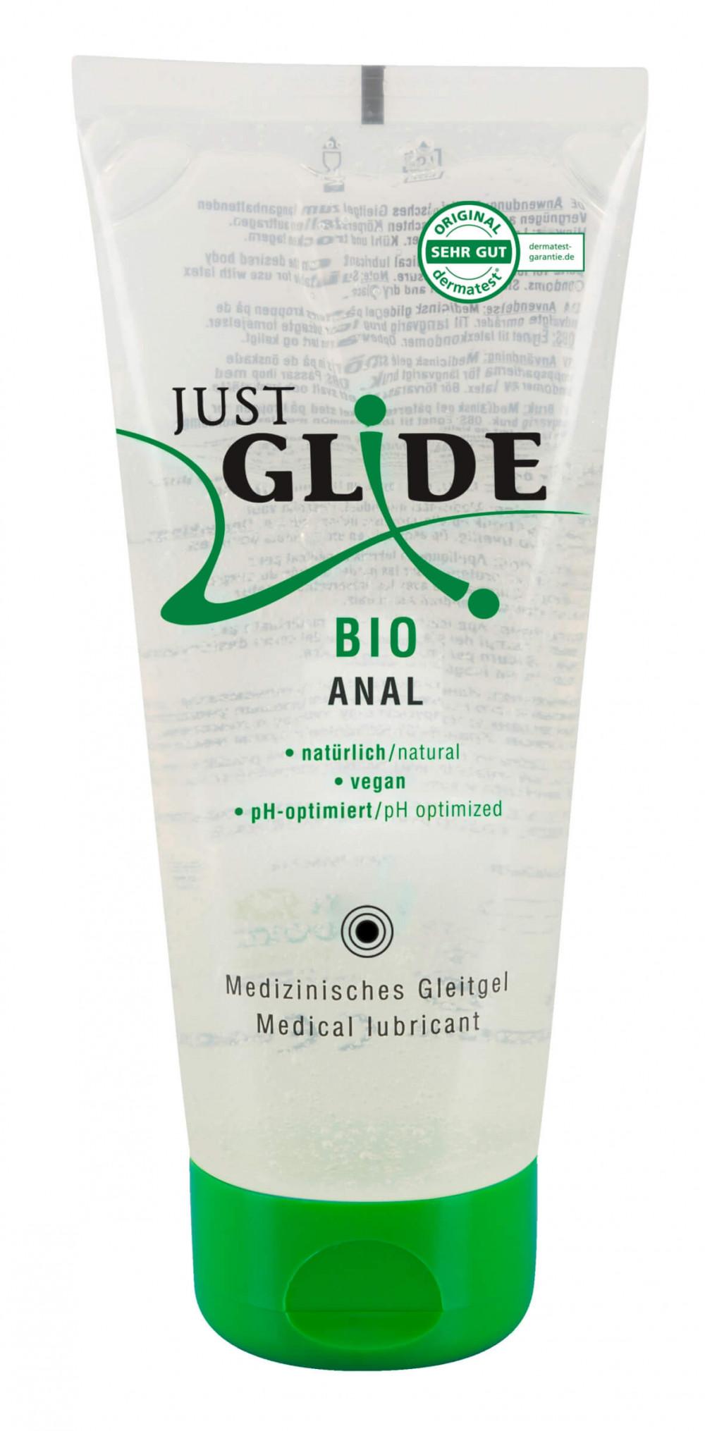 Just Glide Bio ANAL - vegánsky lubrikant na báze vody (200ml)