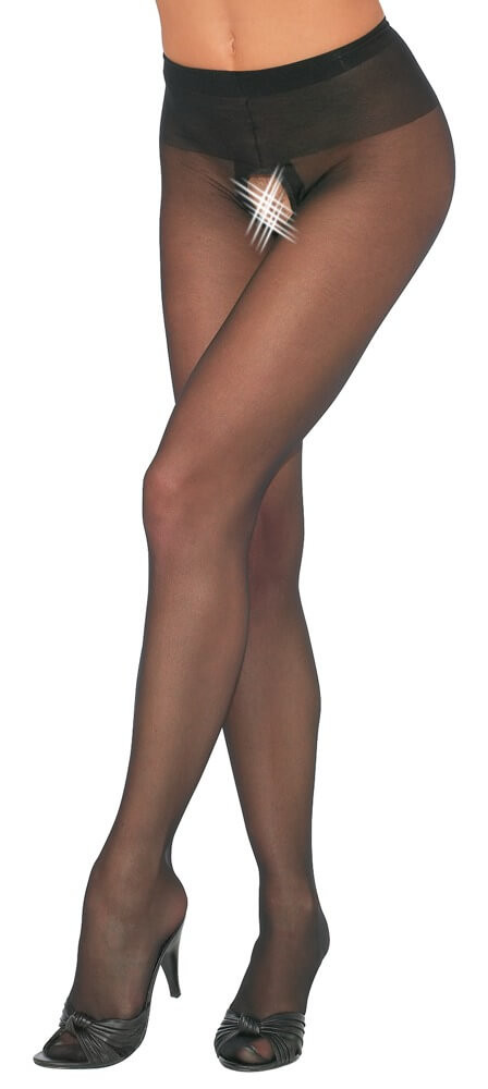 Crotchless Tights black 3