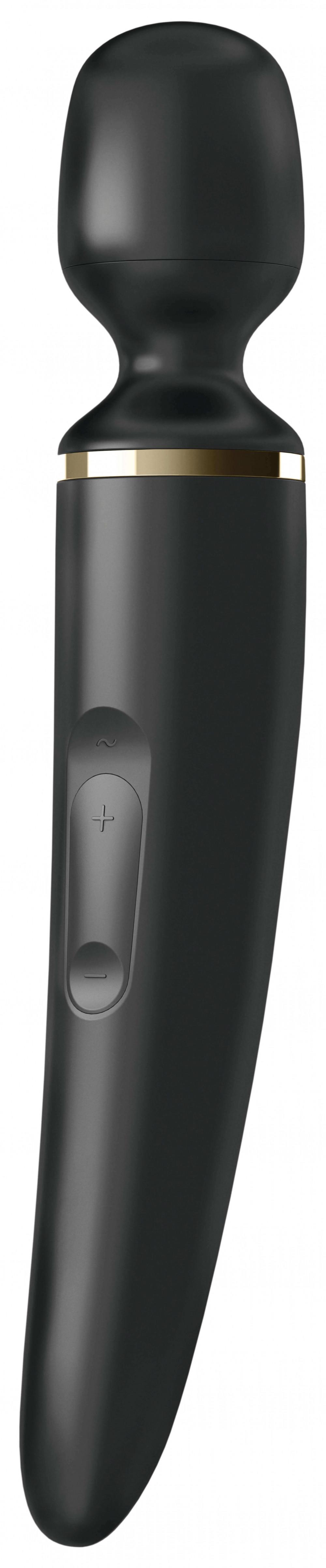 Satisfyer Woman Wand - nabíjecí, vodotěsný masážní vibrátor (černý)