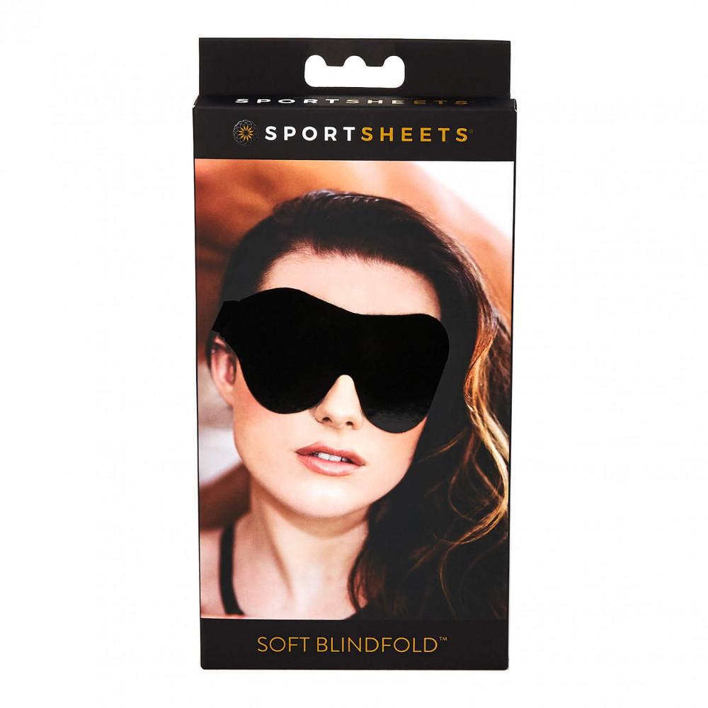 Sportseets - jemná maska na oči s gumeným popruhom (čierna)