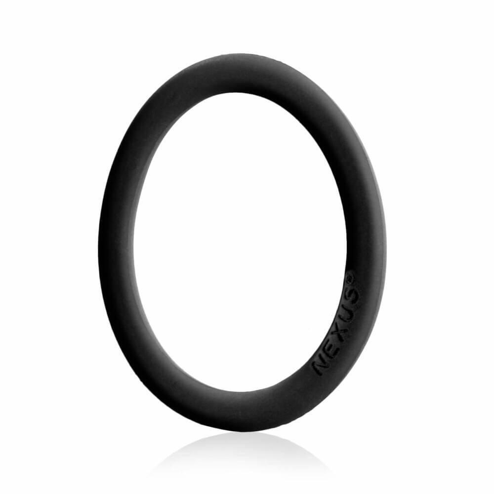 Nexus Enduro - silikonový kroužek na penis (černý)